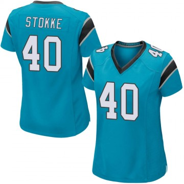 Women's Nike Carolina Panthers Mason Stokke Blue Alternate Jersey - Game