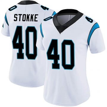 Women's Nike Carolina Panthers Mason Stokke White Vapor Untouchable Jersey - Limited