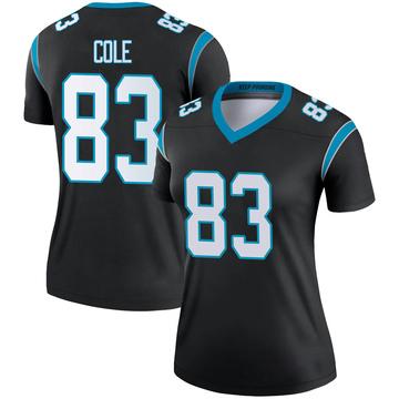 Women's Nike Carolina Panthers Matt Cole Black Jersey - Legend