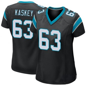 Women's Nike Carolina Panthers Matt Kaskey Black Team Color Jersey - Game