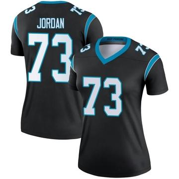 Women's Nike Carolina Panthers Michael Jordan Black Jersey - Legend