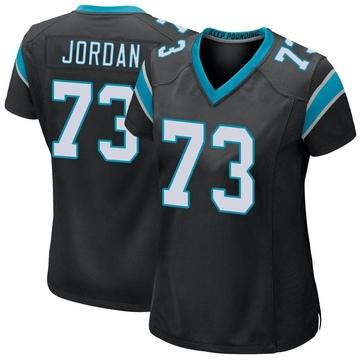 Women's Nike Carolina Panthers Michael Jordan Black Team Color Jersey - Game
