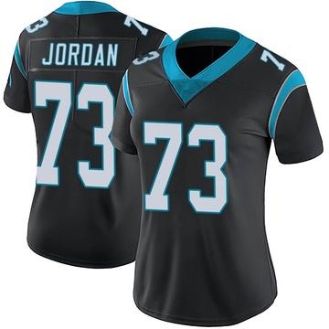 Women's Nike Carolina Panthers Michael Jordan Black Team Color Vapor Untouchable Jersey - Limited