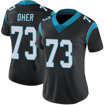 Women's Nike Carolina Panthers Michael Oher Black Team Color Vapor Untouchable Jersey - Limited