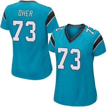 Women's Nike Carolina Panthers Michael Oher Blue Alternate Jersey - Game