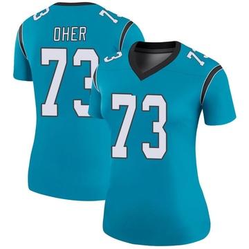 Women's Nike Carolina Panthers Michael Oher Blue Color Rush Jersey - Legend