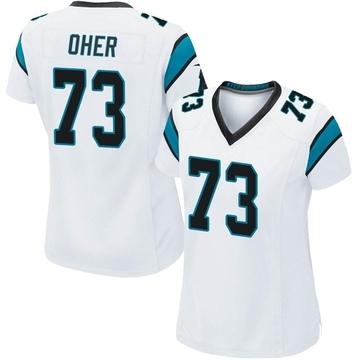Women's Nike Carolina Panthers Michael Oher White Jersey - Game