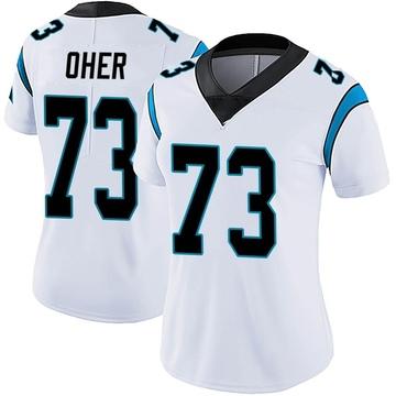 Women's Nike Carolina Panthers Michael Oher White Vapor Untouchable Jersey - Limited