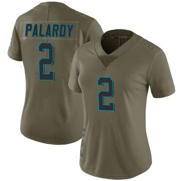 Women's Nike Carolina Panthers Michael Palardy Green 2017 Salute to Service Jersey - Limited