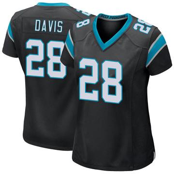 Women's Nike Carolina Panthers Mike Davis Black Team Color Jersey - Game