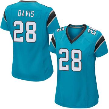 Women's Nike Carolina Panthers Mike Davis Blue Alternate Jersey - Game