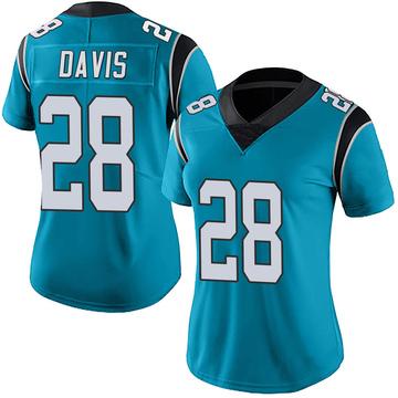 Women's Nike Carolina Panthers Mike Davis Blue Alternate Vapor Untouchable Jersey - Limited
