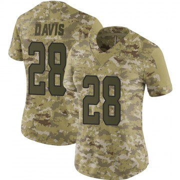 Women's Nike Carolina Panthers Mike Davis Camo 2018 Salute to Service Jersey - Limited