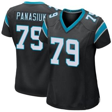 Women's Nike Carolina Panthers Mike Panasiuk Black Team Color Jersey - Game