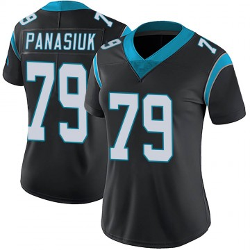 Women's Nike Carolina Panthers Mike Panasiuk Black Team Color Vapor Untouchable Jersey - Limited