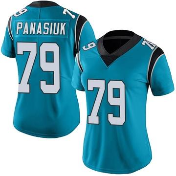 Women's Nike Carolina Panthers Mike Panasiuk Blue Alternate Vapor Untouchable Jersey - Limited