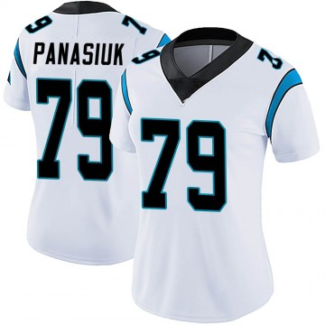 Women's Nike Carolina Panthers Mike Panasiuk White Vapor Untouchable Jersey - Limited