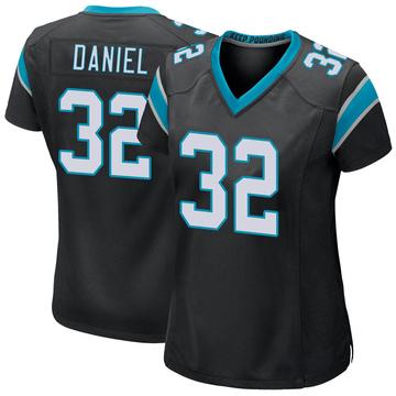 Women's Nike Carolina Panthers Mikey Daniel Black Team Color Jersey - Game