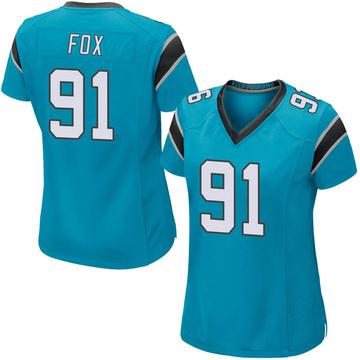 Women's Nike Carolina Panthers Morgan Fox Blue Alternate Jersey - Game
