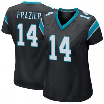 Women's Nike Carolina Panthers Mose Frazier Black Team Color Jersey - Game