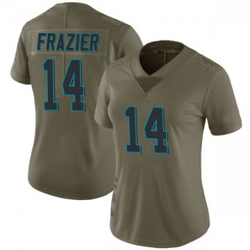 Women's Nike Carolina Panthers Mose Frazier Green 2017 Salute to Service Jersey - Limited