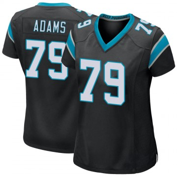 Women's Nike Carolina Panthers Myles Adams Black Team Color Jersey - Game
