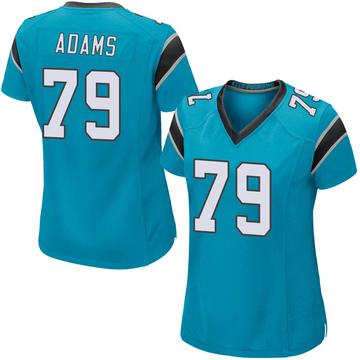 Women's Nike Carolina Panthers Myles Adams Blue Alternate Jersey - Game