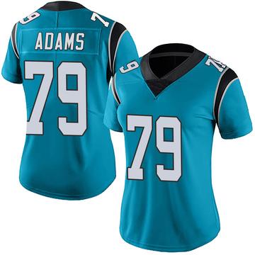 Women's Nike Carolina Panthers Myles Adams Blue Alternate Vapor Untouchable Jersey - Limited