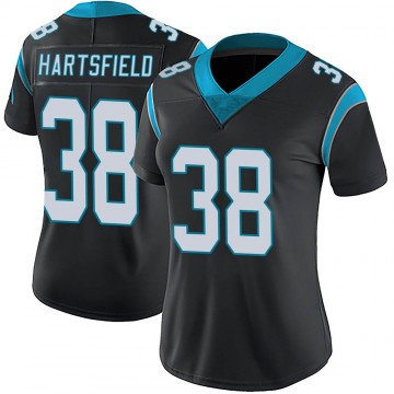 Women's Nike Carolina Panthers Myles Hartsfield Black Team Color Vapor Untouchable Jersey - Limited