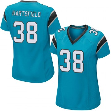 Women's Nike Carolina Panthers Myles Hartsfield Blue Alternate Jersey - Game