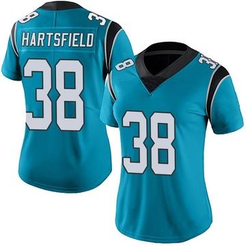 Women's Nike Carolina Panthers Myles Hartsfield Blue Alternate Vapor Untouchable Jersey - Limited