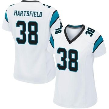 Women's Nike Carolina Panthers Myles Hartsfield White Jersey - Game