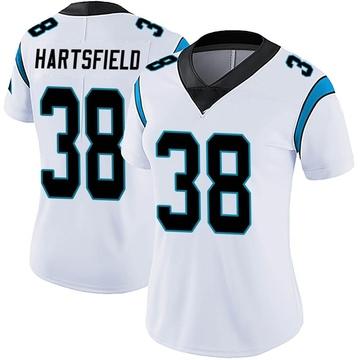 Women's Nike Carolina Panthers Myles Hartsfield White Vapor Untouchable Jersey - Limited