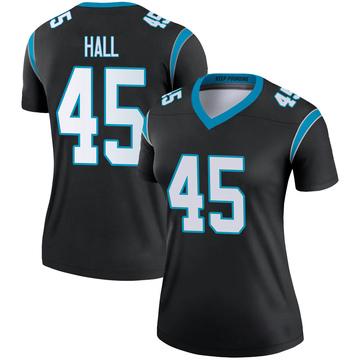 Women's Nike Carolina Panthers Nate Hall Black Jersey - Legend