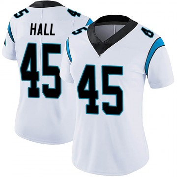 Women's Nike Carolina Panthers Nate Hall White Vapor Untouchable Jersey - Limited