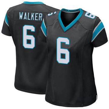 Women's Nike Carolina Panthers P.J. Walker Black Team Color Jersey - Game