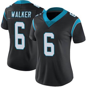 Women's Nike Carolina Panthers P.J. Walker Black Team Color Vapor Untouchable Jersey - Limited