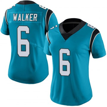 Women's Nike Carolina Panthers P.J. Walker Blue Alternate Vapor Untouchable Jersey - Limited