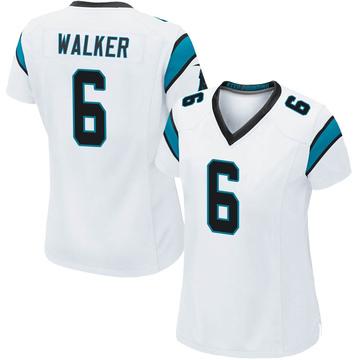 Women's Nike Carolina Panthers P.J. Walker White Jersey - Game