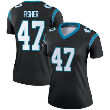 Women's Nike Carolina Panthers Paddy Fisher Black Jersey - Legend