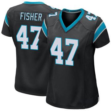 Women's Nike Carolina Panthers Paddy Fisher Black Team Color Jersey - Game