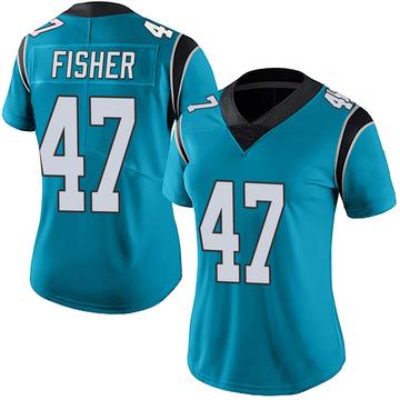 Women's Nike Carolina Panthers Paddy Fisher Blue Alternate Vapor Untouchable Jersey - Limited