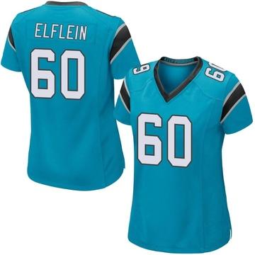 Women's Nike Carolina Panthers Pat Elflein Blue Alternate Jersey - Game
