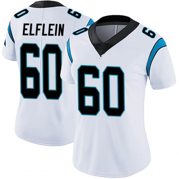 Women's Nike Carolina Panthers Pat Elflein White Vapor Untouchable Jersey - Limited