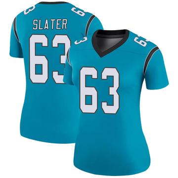 Women's Nike Carolina Panthers Pearce Slater Blue Color Rush Jersey - Legend