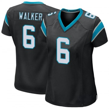 Women's Nike Carolina Panthers Phillip Walker Black Team Color Jersey - Game