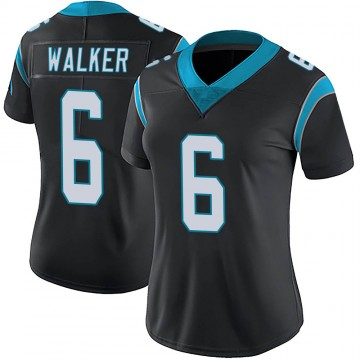 Women's Nike Carolina Panthers Phillip Walker Black Team Color Vapor Untouchable Jersey - Limited
