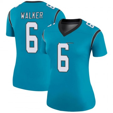 Women's Nike Carolina Panthers Phillip Walker Blue Color Rush Jersey - Legend