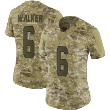 Women's Nike Carolina Panthers Phillip Walker Camo 2018 Salute to Service Jersey - Limited