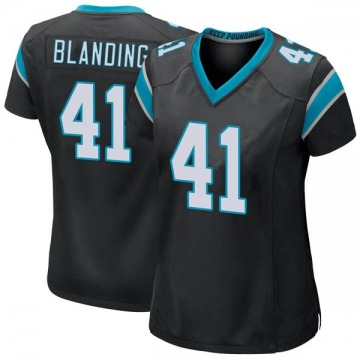 new style 668cb 14ae8 Women's Nike Carolina Panthers Quin Blanding Black Team ...